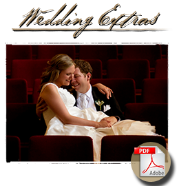 Studio 9 - Wedding Extras, Pricing